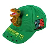 Boy's Sun Hats 3D T-rex Dinosaur Baseball Trucker Caps 100% Cotton Funny Adjustable Snapback Birthday Crazy Hats for Boys (Dark Green): more info