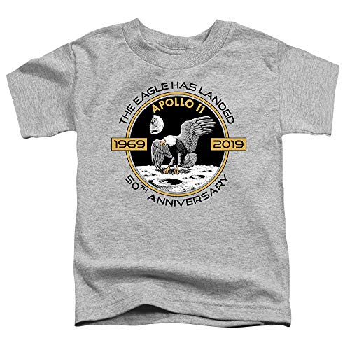 NASA Toddler T-Shirt Eagle Landed Athletic Heather Tee, 4T