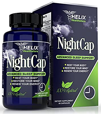 BEST Natural Sleep Aid Supplement For Adults - Advanced Formula for Deep Sleep & Restored Energy - 60 Capsules With Valerian Root & Melatonin Non-Habit Forming OTC Herbal Sleeping Pills - Made in USA