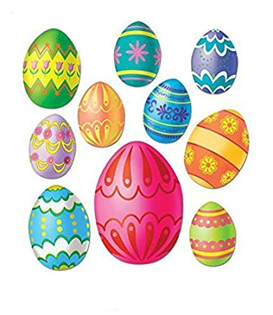 Amazon.in: Buy Easter Egg Cutouts Party Accessory (1 Count) (10/pkg) Pkg/12  at Low Prices in India | Home & Kitchen Store
