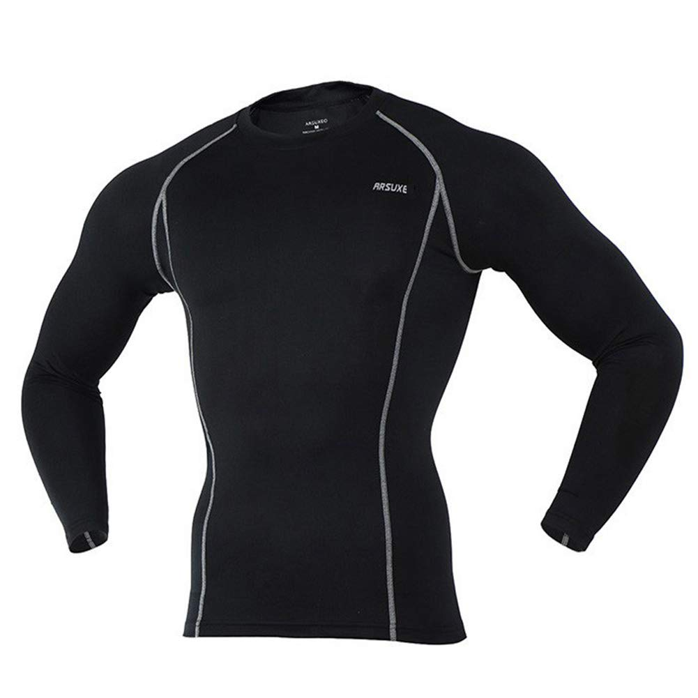 QWERT Compression-Shirt Gym Shirts Langarm Sport Tights Trainings-Hemd Dry Fit
