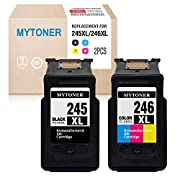 #LightningDeal 76% claimed: MYTONER Re-Manufactured Ink Cartridge Replacement for Canon PG-245XL CL-246XL PG-243 CL-244 (1 Black, 1 Tri-Color) for Canon Pixma MX492 MX490 MG2420 MG2520 MG2522 MG2920 MG2922 MG3022 MG3029 iP2820
