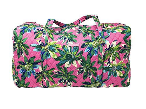 Vera Bradley Large Duffel Bag (Tropical Paradise with Solid Blue Lining)