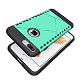 iPhone 7 Plus Case, HLCT Slim Fit, Soft Interior TPU Bumper & Hard Shell Solid PC Back, Shock-Absorption & Skid-Proof, Anti-Scratch Hybrid Dual-Layer Slim Cover (Green)