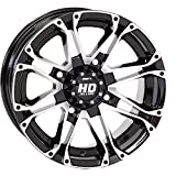 4/137 STI HD3 Alloy Wheel 12x7 5.0 + 2.0 Black Machined BOMBARDIER CAN-AM KAWASAKI SUZUKI