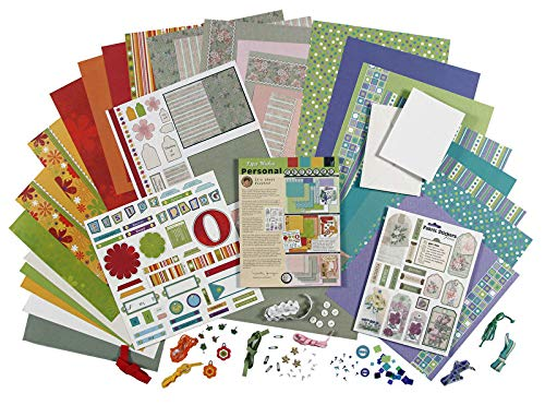 Paper Wishes - Flowers & More Card Making & Scrapbooking Kit | 118 Pieces with 30 Printed Papers & cardstock, Project, Fabric Stickers, Ribbons, brads, Tags, 3-D Stickers, Sequins, Buttons and More
