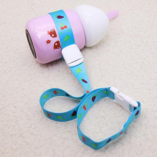 Jsentai Baby Sippy Cup Holder Adjustable Strap, Soothie Pacifier Holders Toys Leash For Stroller Random Color Pack of 4 by Jsentai (Image #3)