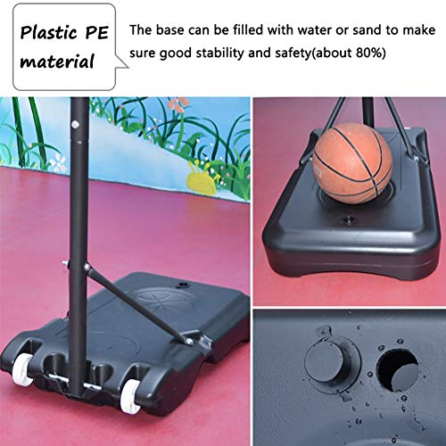 Basketball Stand Height Adjustable w/Wheels 165-210cm (65'' to 83'') | Outdoor Basketball Hoop Stand Toy Set for Kids Toddler by Basketball Stand (Image #4)