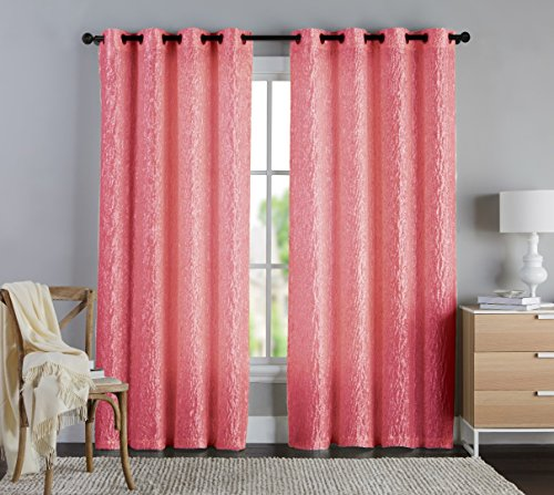 Coral Color Curtains Amazoncom - Coral colored curtain panels