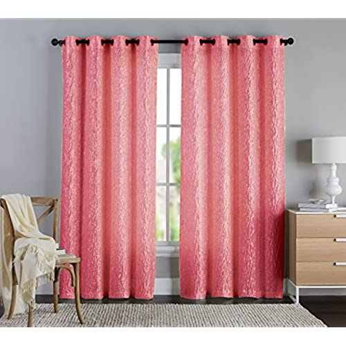 Coral Color Curtains: Amazon.com