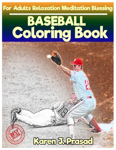 BASEBALL  Coloring book for Adults Relaxation  Meditation Blessing: Sketch coloringbook  Grayscale - Scale Baseball