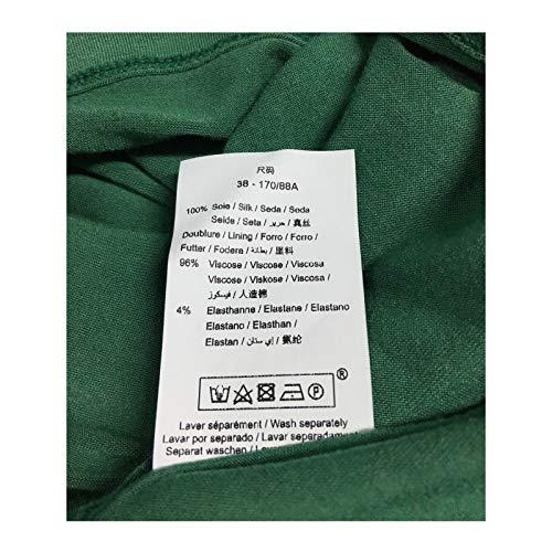 Verde Mod Fb3256 Abito La In Maraboutee 100 Seta Made Fee Italy Donna pYq1xXwIx