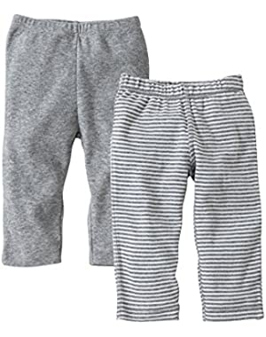 Set of 2 Essentials Footless Pants, 100% Organic Cotton