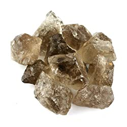 Crystal Allies Materials: 1lb Bulk Rough Smoky Quartz Stones - Large 1 Raw Natural Crystals for Cabbing, Cutting, Lapidary, Tumbling, and Polishing & Reiki Crystal Healing *Wholesale Lot*