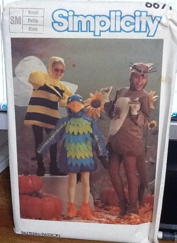 Dress up Pattern Halloween Costume Bird, Bee and Kangaroo Simplicity 6671 Vintage Sewing Pattern, Check Listings for Size]()