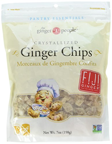 - The Ginger People Baker's Cut Crystallized Ginger Chips, 7 Ounce Pack