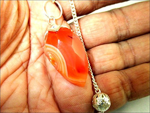 (Jet Carnelian Faceted Drops Faceted Pendulum Carved Handcrafted Antique India New Design Top Reiki Dowsing Detect Metal Find Missing Person Research Oil Water Gold Silver Copper)