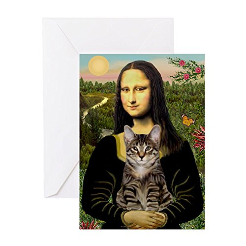 CafePress - Mona's Tiger Cat - Greeting Card, Note Card, Birthday Card, Blank Inside Matte