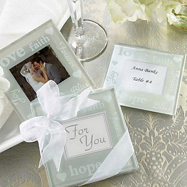 - QINF Good Wishes Pearlized Photo Coasters