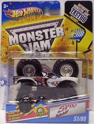 Hot Wheels Monster Jam Travel Treads Spike #51/80
