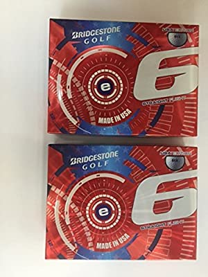 Bridgestone e6 2015-2016 USA Model White Golf Balls, 2-Dozen Special