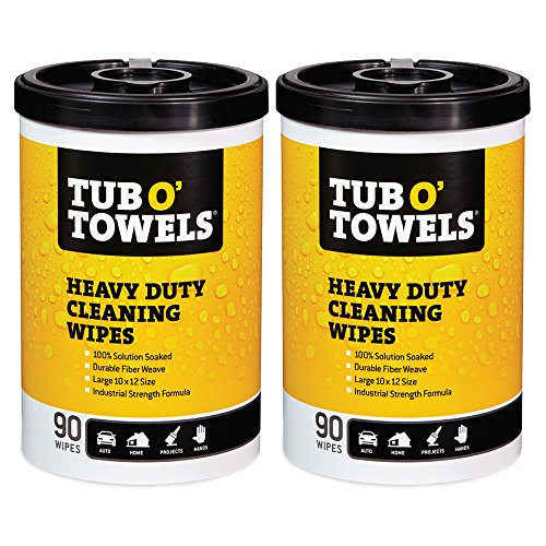 Tub O Towels Heavy-Duty Multi-Surface Cleaning Wipes, Citrus, 10 X 12 Inch, 2 Count (Tiles Ink)