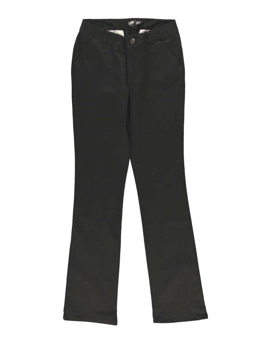 LEE Uniforms Juniors Curvey Straight Leg Pant, Black, 9