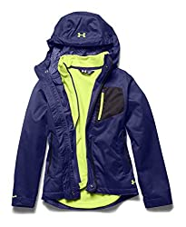 Under Armour Girls' UA ColdGear Infrared Gemma 3-In-1 Jacket MD (10-12 Big Kids) EUROPA PURPLE