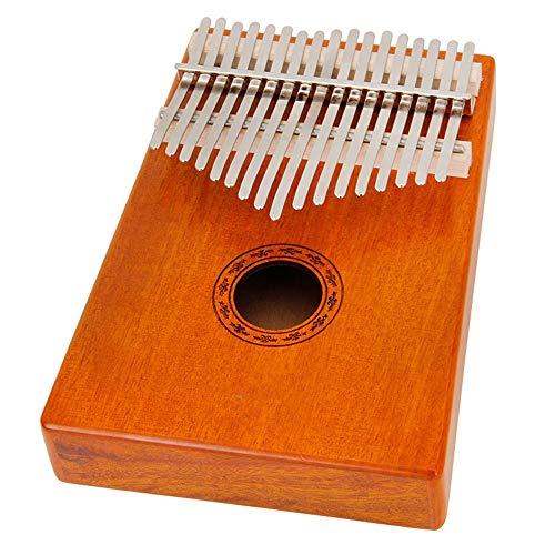 DERTHWER Thumb Piano, Kalimba 17 Key Thumb Piano Upgrade Design Mahogany Portable Handmade African Musical Instrument…