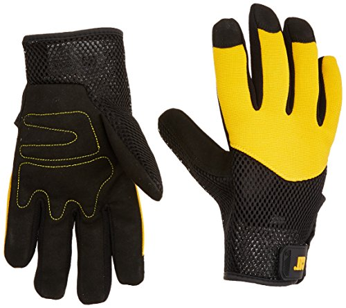- CATERPILLAR CAT012215L Padded Palm Utility Synthetic Leather Polyurethane/nylon palm is padded in high wear areas for increased protection with Adjustable Wrist. Size Large