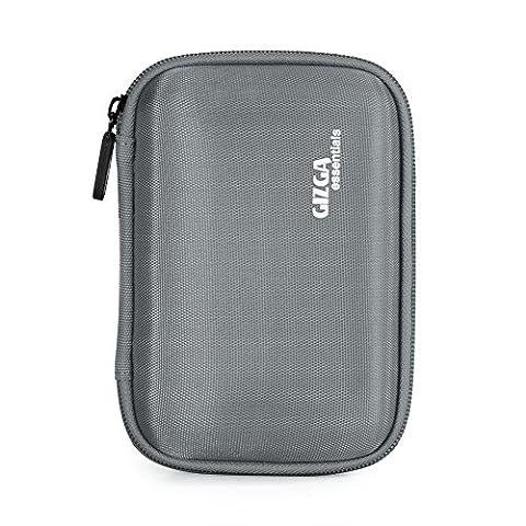 GIZGA EVA Shockproof Carrying Travel Case for 2.5-Inch Portable External Hard Drive, GPS Camera and External Battery Pack (Buffalo 1 Tb External Hard Drive)