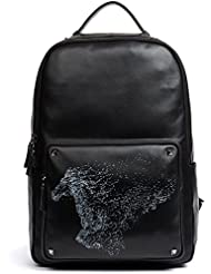 Backpack For Men Genuine Leather Business Daypack Travel Large Capacity School Bag 14 Inch Laptop