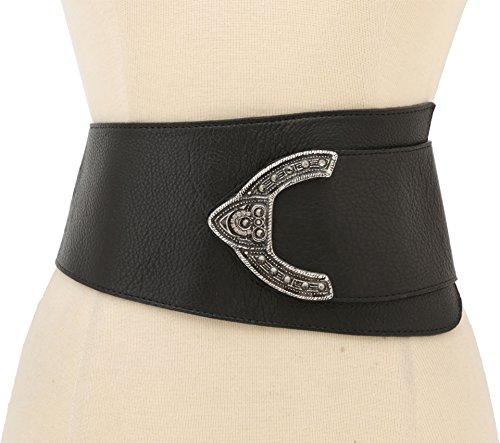 Leatherock Women's 9605 Black Belt LG by Leatherock