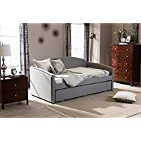 Baxton Studio Lanny Twin Daybed in Gray