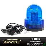 Xtreme High Intensity Super Bright Blue Revolving 30 LED 5050 SMD 15W LED Emergency Vehicle Magnetic Mount Strobe and Rotating Beacon Warning Light