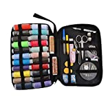 Souarts 24 Colors Mini Sewing Kit for Kids, Travel, Emergency, Sewing Supplies with Scissors, Thimble, Thread, Needles, Tape Measure, Carrying Case and Accessories
