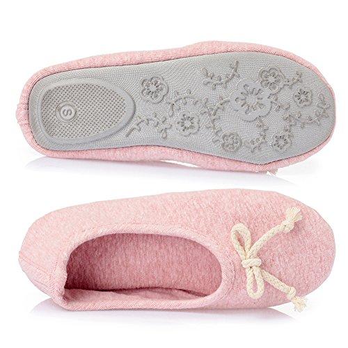 Cior Fantiny Femmes Confortables Pantoufles Ballerine Douce Semelle Velours Chaussures Dintérieur Élégant 01.pink
