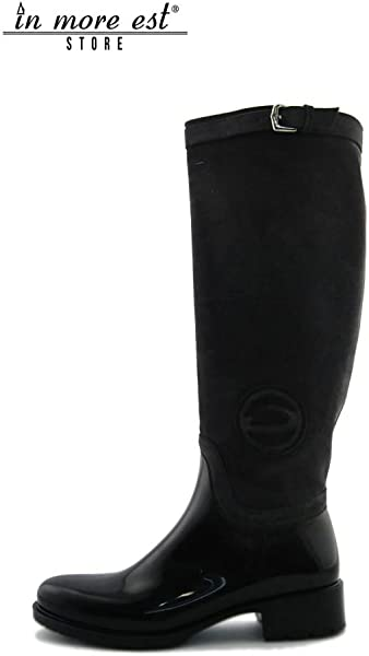 181c1bb1dff97 Alberto Guardiani Low Boot Black Grey Suede Rubber Type Rain