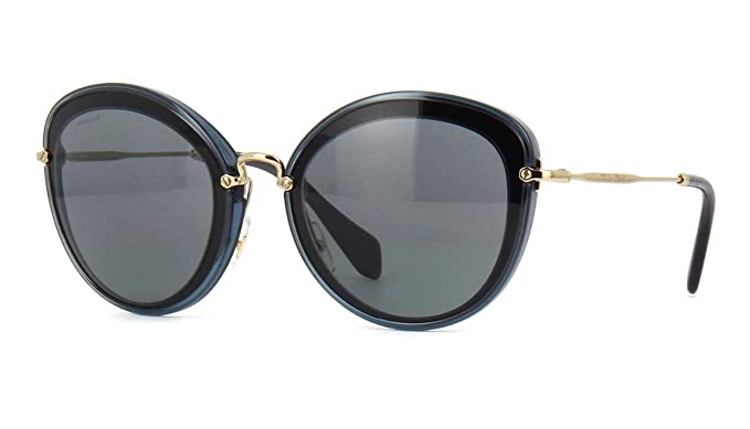 Amazon.com: Miu Miu 1 ab9 K1 BLACK-CRYSTAL Gris 50RS Oval ...