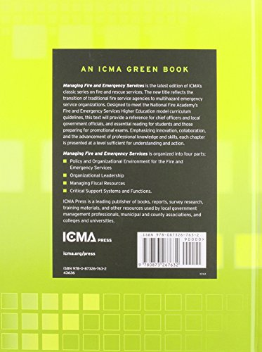 Managing Fire and Emergency Services (Icma Green Book) - medicalbooks.filipinodoctors.org