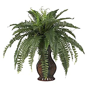 Boston Fern with Urn Silk Plant 102