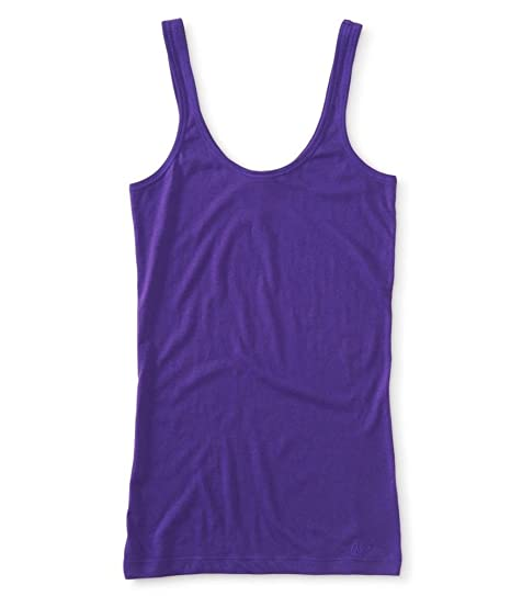 e237da30abfdb Amazon.com  Aeropostale Womens Plain Ultra Soft Tank Top  Clothing