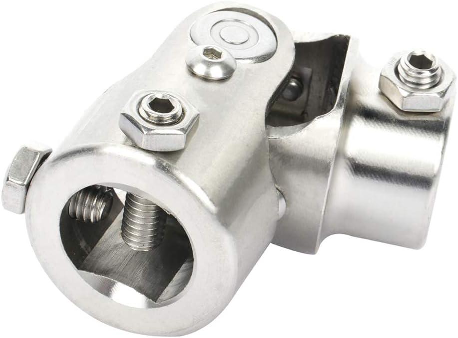 LSAILON Chrome single U-Joint Shaft 1 DD X 3//4 DD Universal Steering Shaft U Joint