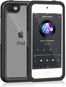 Mitywah Waterproof Case for iPod Touch 7 Touch 6 Touch 5,Full Body Sealed Anti-Scratch Case Built in Screen Protector Snowproof Dropproof Dustproof for Apple iPod Touch 7th/6th/5th Generation-Black