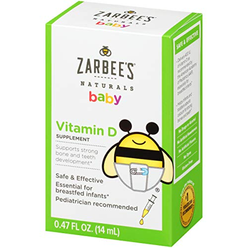 Zarbee's Naturals Baby Vitamin D Supplement, 0.47 Ounce Bottle (Best Vitamin D Drops For Breastfed Babies)