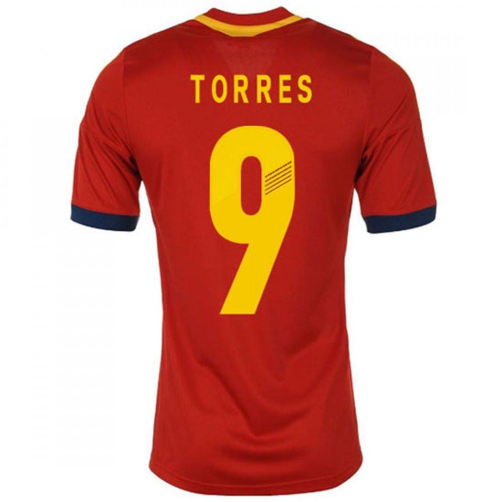 2013-14 Spain Home Football Soccer T-Shirt Trikot (Fernando Torres 9) - Kids