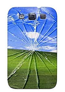 Storydnrmue UbI31qDYDb Case Cover Galaxy S3 Protective Case Green Hills Behind Broken Window ( Best Gift For Friends)