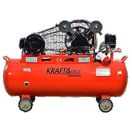 Compresor kraft germany cinghiato trifásico 380 V 4,1 kw 100l-peso: 95
