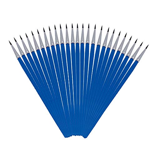 50 Pack Pointed-Round Art Paintbrushes for Detailing Painting,Miniature, Scale Model, Art Painting for Students,Artist…