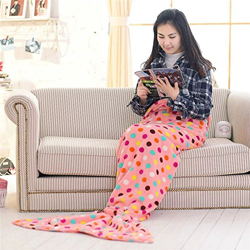 Super Soft 180cm 100% Flannel Mermaid Tail Blanket Teen Adult Size Warm Clothes Living Room Bedroom Sofa Sleeping Bag
